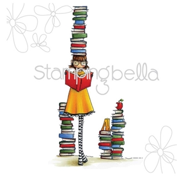 Stamping Bella Cling Stamp UPTOWN GIRL BETTY LOVES BOOKS Rubber UM EB294