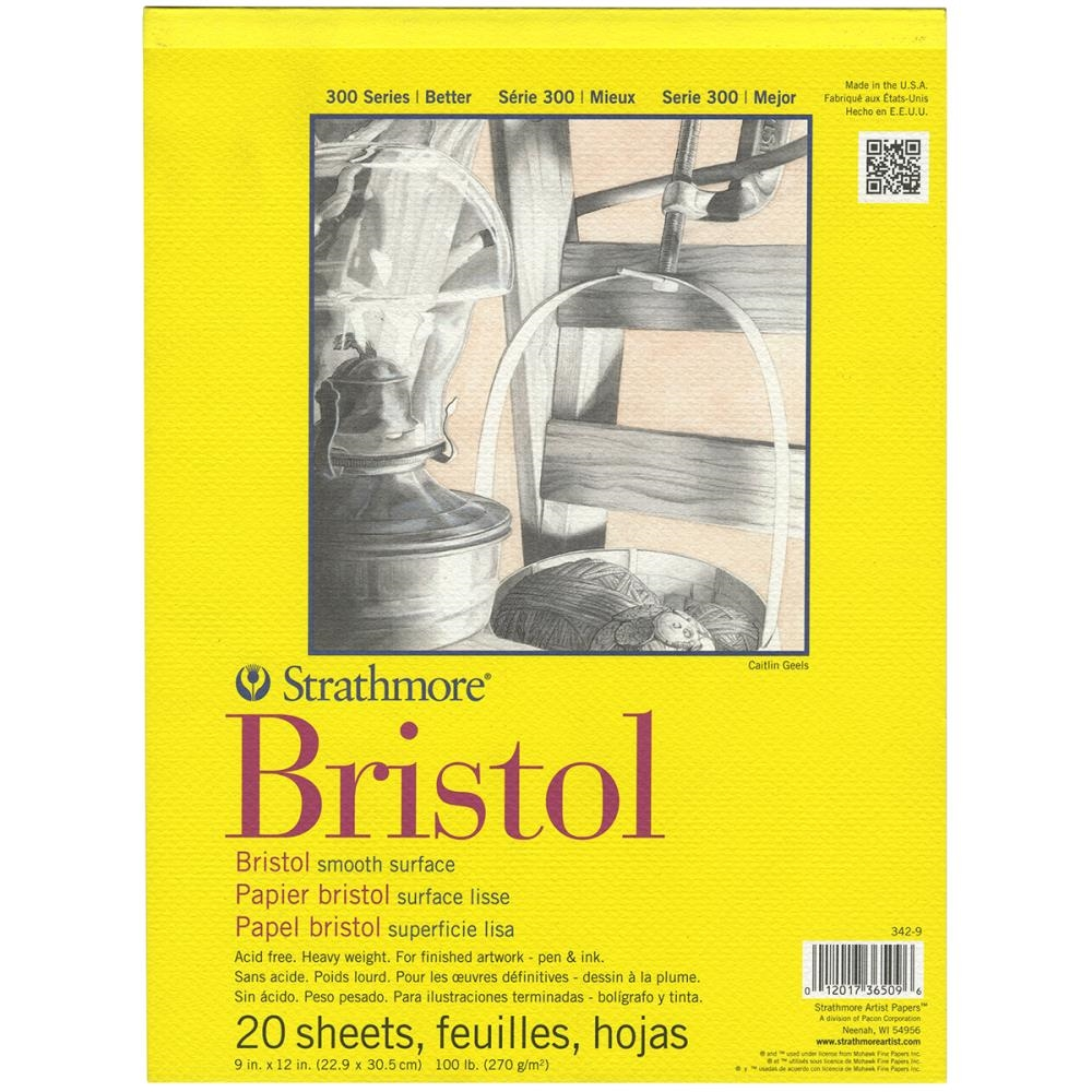 Strathmore BRISTOL SMOOTH 9 x 12 Paper Pad