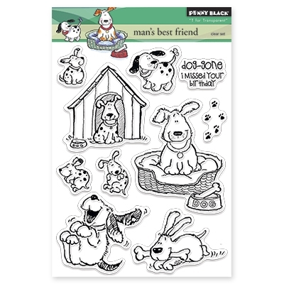 Penny Black Clear Stamps MAN'S BEST FRIEND 30120 zoom image