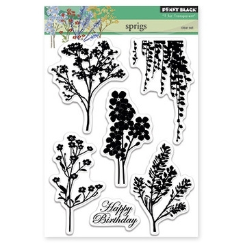 Penny Black Clear Stamps SPRIGS 30284 zoom image