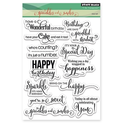Penny Black Clear Stamps SPRINKLES AND SMILES 30297 zoom image
