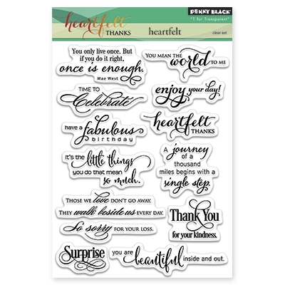 Penny Black Clear Stamps HEARTFELT 30286 zoom image
