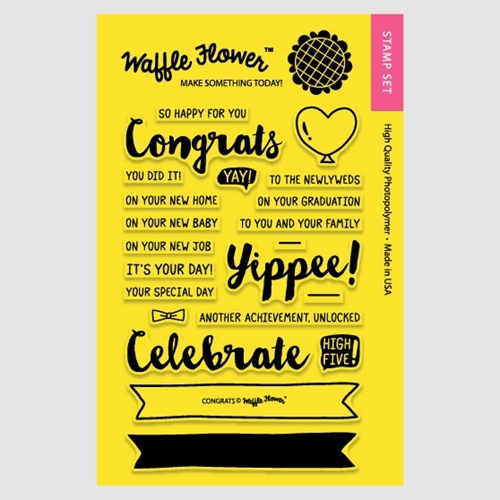 Waffle Flower CONGRATS Clear Stamp Set 271035 Preview Image