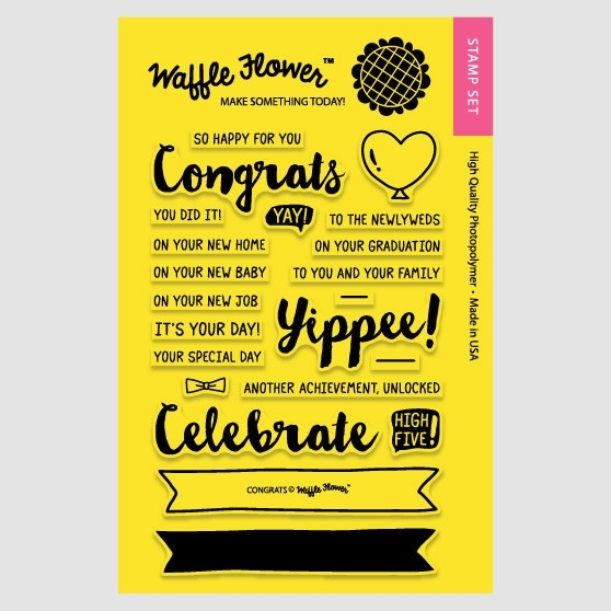 Waffle Flower CONGRATS Clear Stamp Set 271035 zoom image