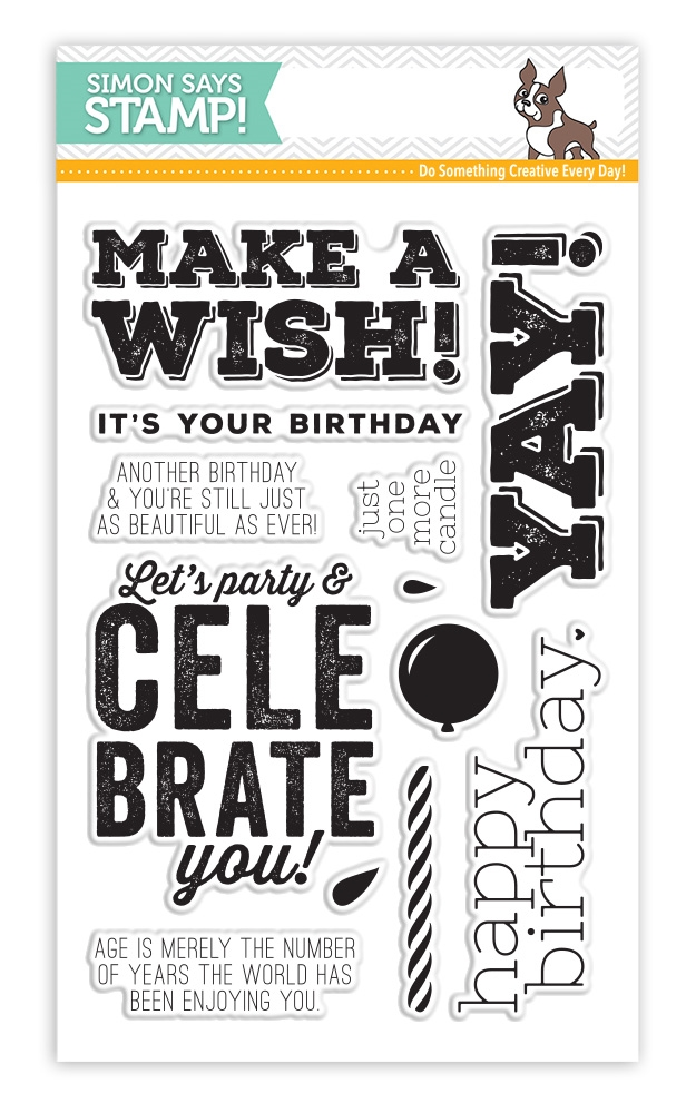 Simon Says Clear Stamps BIG BIRTHDAY WISHES sss101521 zoom image