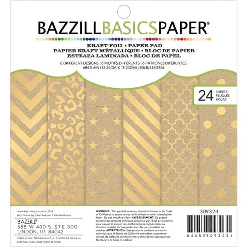 Bazzill KRAFT FOIL Gold Paper Pad 309323 Preview Image