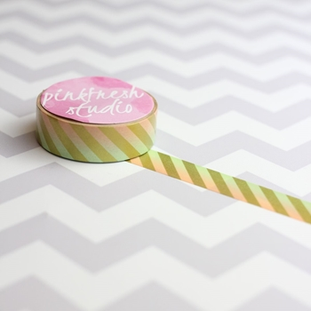 Pinkfresh Studio PEACH AND MINT Ombre Airmail Washi PFSOMW01*