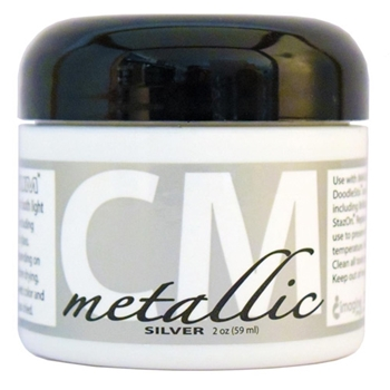 Tsukineko METALLIC SILVER CREATIVE MEDIUM Texture Paste CMMET092