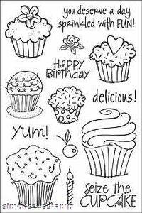 Hero Arts Clear Stamps CUPCAKES Cleardesign CL158 Birthday zoom image