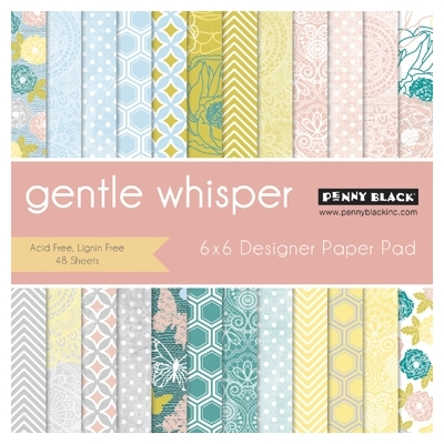 Penny Black GENTLE WHISPER Designer 6 X 6 Paper Pad 80008 Preview Image
