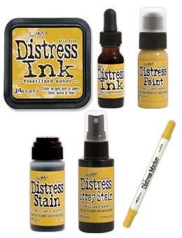 Tim Holtz Distress FOSSILIZED AMBER Color Of The Month Set Ranger 2015APR Preview Image