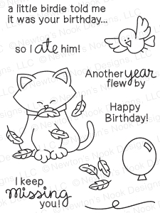 Newton's Nook Designs NEWTONS BIRTHDAY FLUTTER Clear Stamp Set 20150303 Preview Image