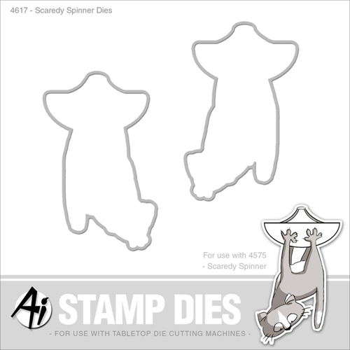 Art Impressions SCAREDY SPINNER Stamp Dies 4617 Preview Image
