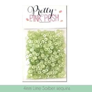 Pretty Pink Posh Lime Sorbet 4mm sequins