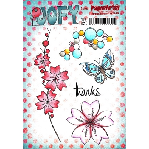 Paper Artsy JOFY 32 Thanks Rubber Cling Stamp JOFY32 Preview Image