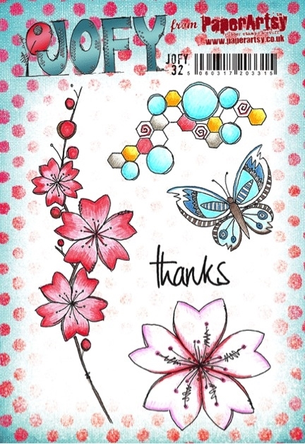 Paper Artsy JOFY 32 Thanks Rubber Cling Stamp JOFY32 zoom image