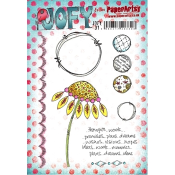 Paper Artsy JOFY 31 Thoughts Rubber Cling Stamp JOFY31