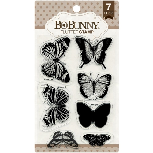 BoBunny FLUTTER Clear Stamps 12105895 Preview Image