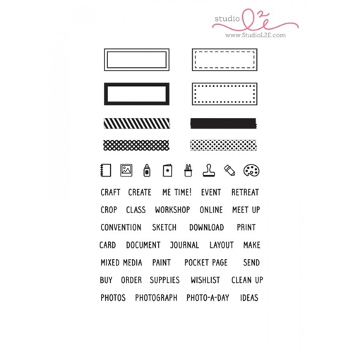 Studio L2E CREATIVE PLANS Clear Stamp set Preview Image