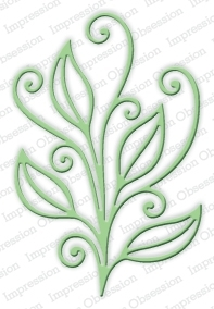 Impression Obsession OPEN SCROLL LEAF Set DIE251-R* Preview Image