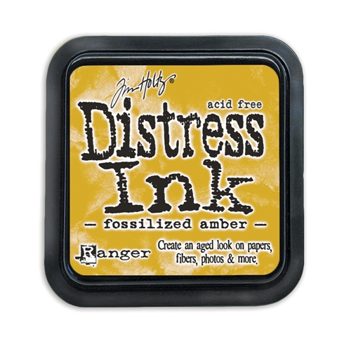 Tim Holtz Distress Ink Pad FOSSILIZED AMBER Ranger TIM43225 Preview Image