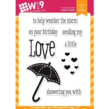 Wplus9 LOVE SHOWERS Clear Stamps CL-WP9LSH