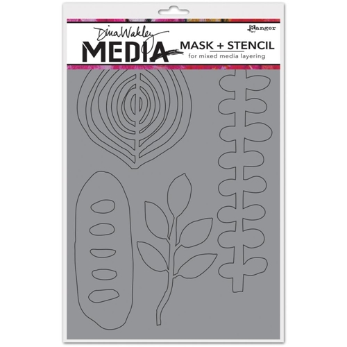 Dina Wakley ORGANIC SHAPES Media Mask and Stencil MDS45618* Preview Image