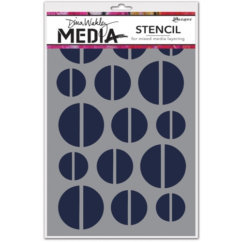 Dina Wakely HALVES Media Stencil MDS45564 Preview Image