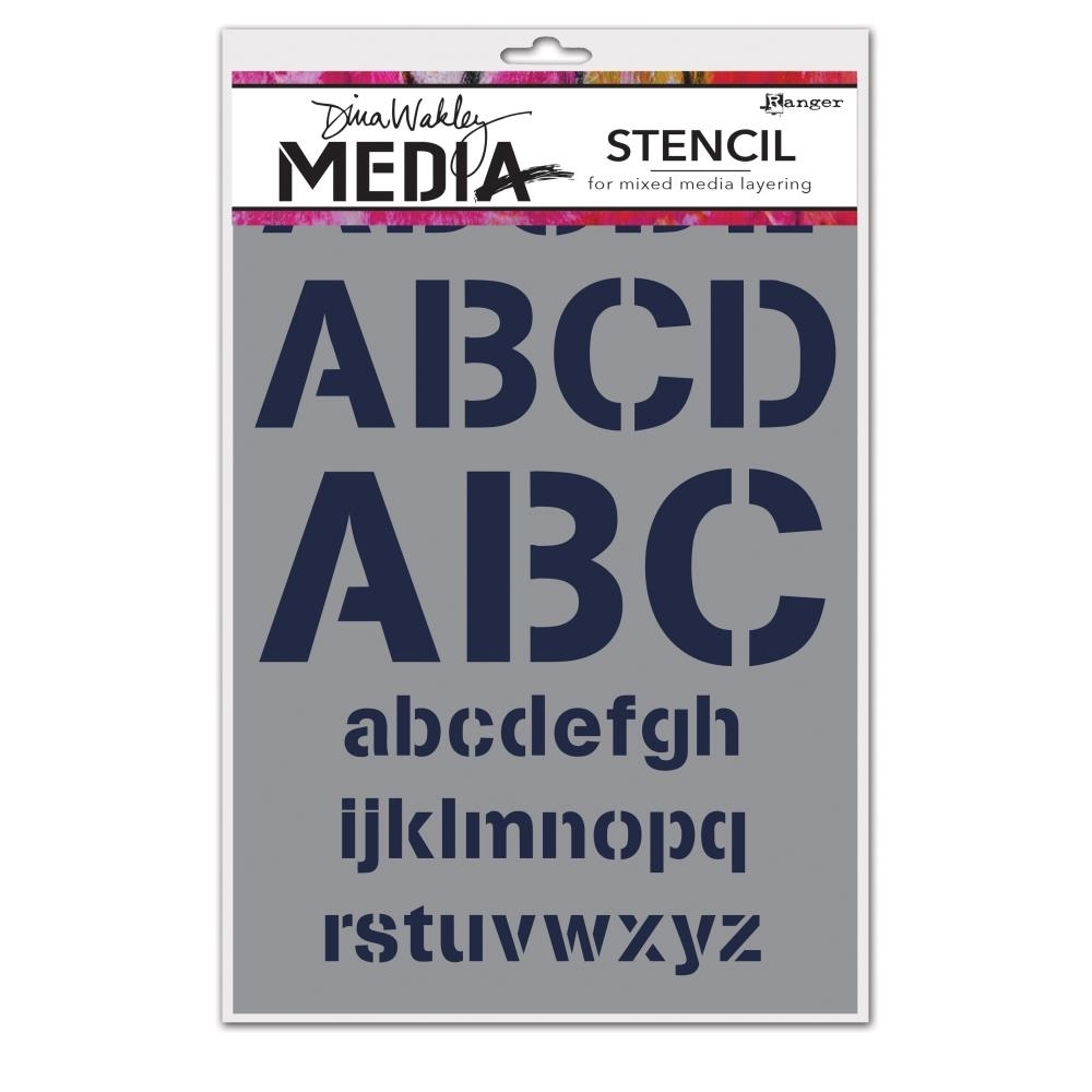Dina Wakley ALPHABETIC Media Stencil MDS45526 zoom image