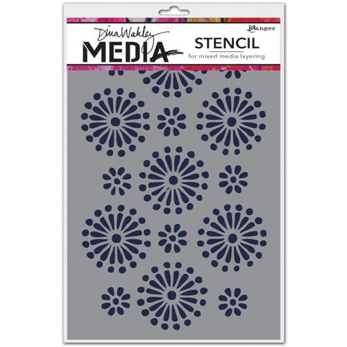 Dina Wakley DAISIES Media Stencil MDS45533 Preview Image