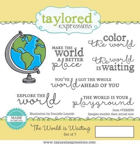 Taylored Expressions The World is Waiting Stamp Set