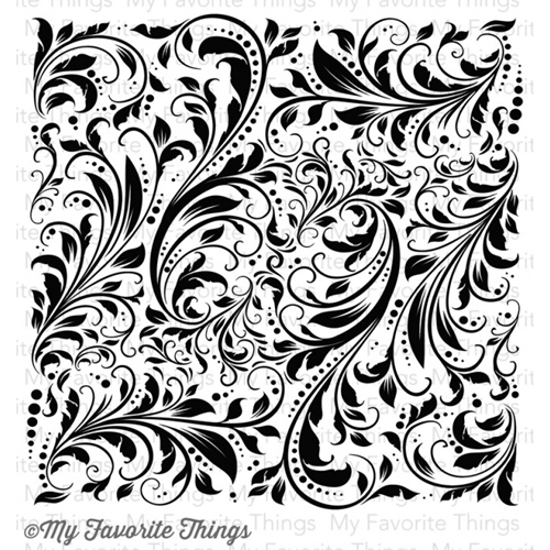 My Favorite Things GARDEN FLOURISH Background Cling Stamp MFT BG40 Preview Image