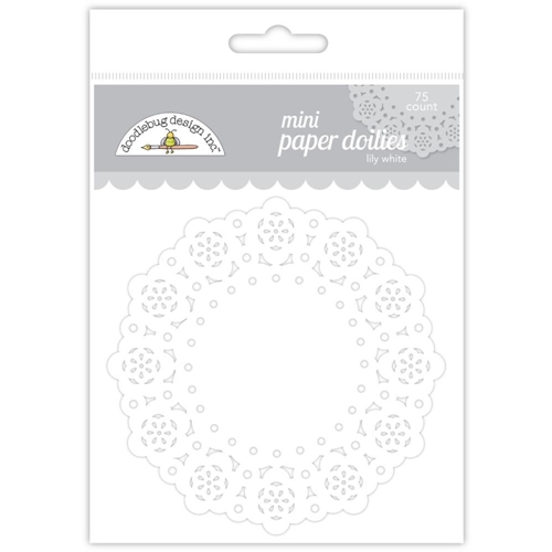 Doodlebug LILY WHITE MINI DOILIES 75 Count 4605 Preview Image