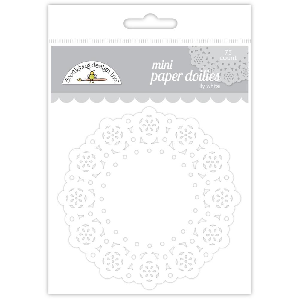 Doodlebug LILY WHITE MINI DOILIES 75 Count 4605 zoom image