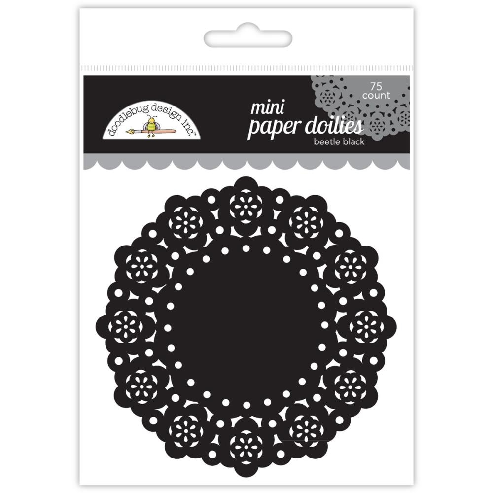 Doodlebug BEETLE BLACK MINI DOILIES 75 Count 4607 zoom image