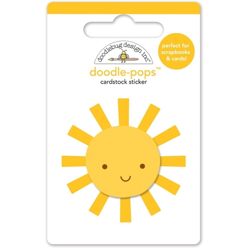 Doodlebug MR SUNSHINE Doodle Pops Embellished 3D Sticker 4970 Preview Image