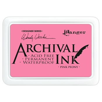 Ranger Wendy Vecchi Archival PINK PEONY Ink Pad AID45649