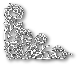 Memory Box PENNINGTON ROSE CORNER Craft Die 99141 Preview Image
