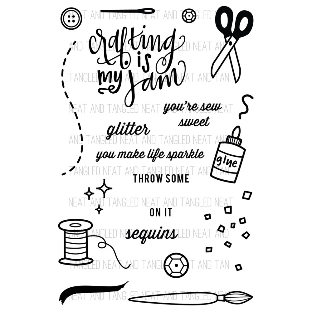 Neat and Tangled CRAFTING IS MY JAM Clear Stamp Set NAT066 zoom image