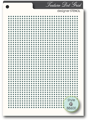 Memory Box TEXTURE DOT GRID Designer Stencil 88600 Preview Image