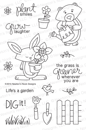 Newton's Nook Designs GARDEN WHIMSY Clear Stamp Set 20150402 zoom image
