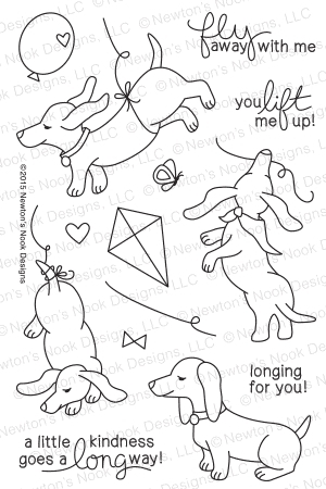 Newton's Nook Designs DELIGHTFUL DOXIES Clear Stamp Set 20150403 zoom image