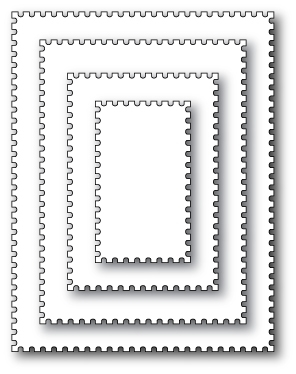 Memory Box POSTAGE RECTANGLE LAYERS Open Studio Craft Die 30052 Preview Image
