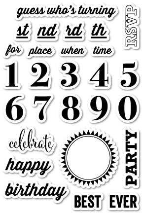 Memory Box Clear Stamps PARTY TIME Open Studio CL5153 zoom image