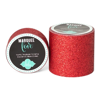 Heidi Swapp RED GLITTER Marquee Love Washi Tape 369279*