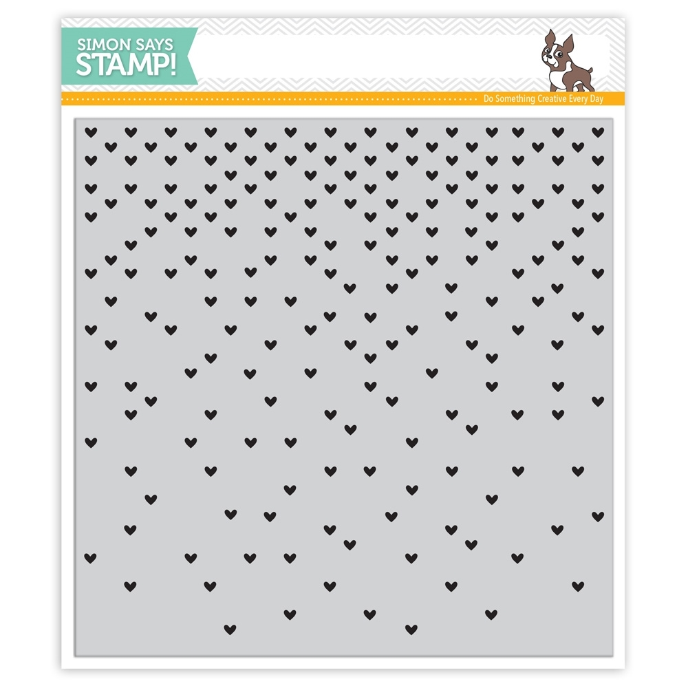 Simon Says Cling  Rubber Stamp FALLING HEARTS sss101508 Falling For You zoom image