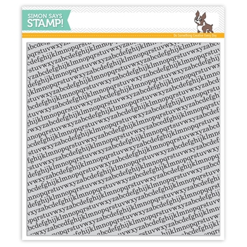 Simon Says Cling Rubber Stamp TINY ALPHABET BACKGROUNDS sss101516 Falling For You