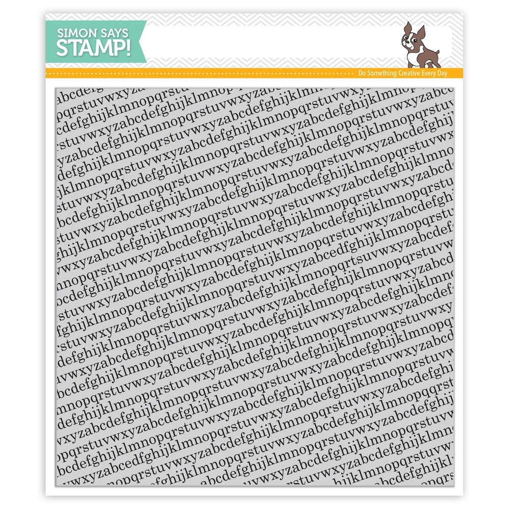 Simon Says Cling Rubber Stamp TINY ALPHABET BACKGROUNDS sss101516 Falling For You zoom image