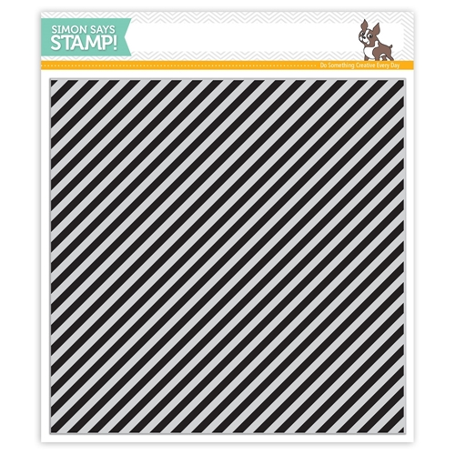 Simon Says Cling Rubber Stamp DIAGONAL STRIPES sss101532 Falling For You Preview Image