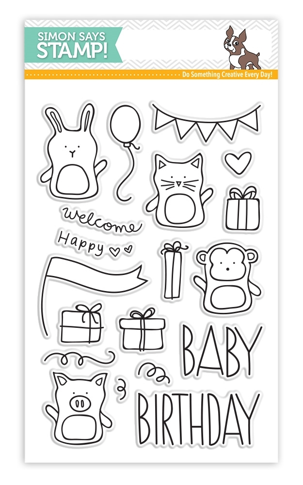 Simon Says Clear Stamps BABY PARTY ANIMALS sss101520 zoom image